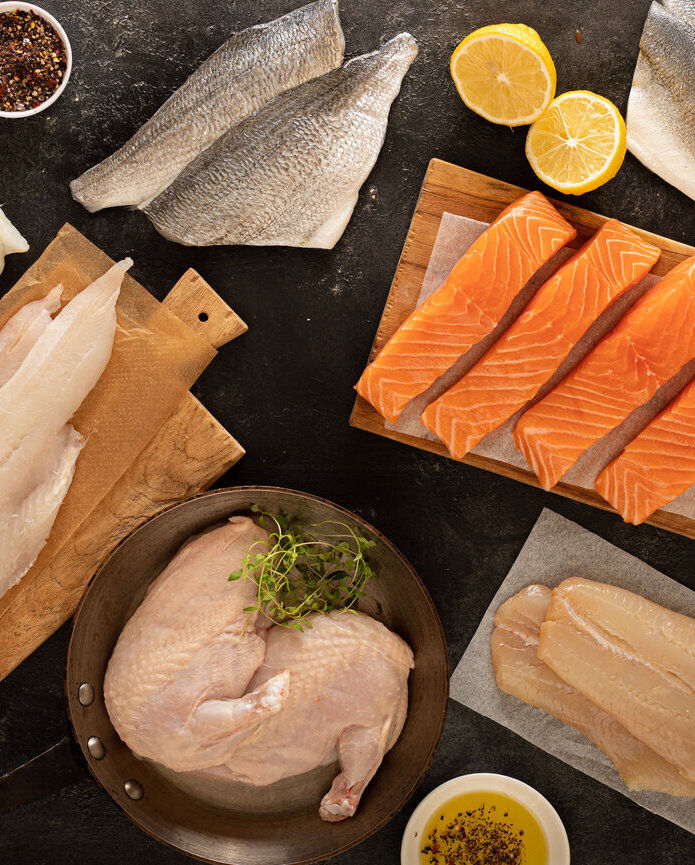 Fresh fish & Poultry selection