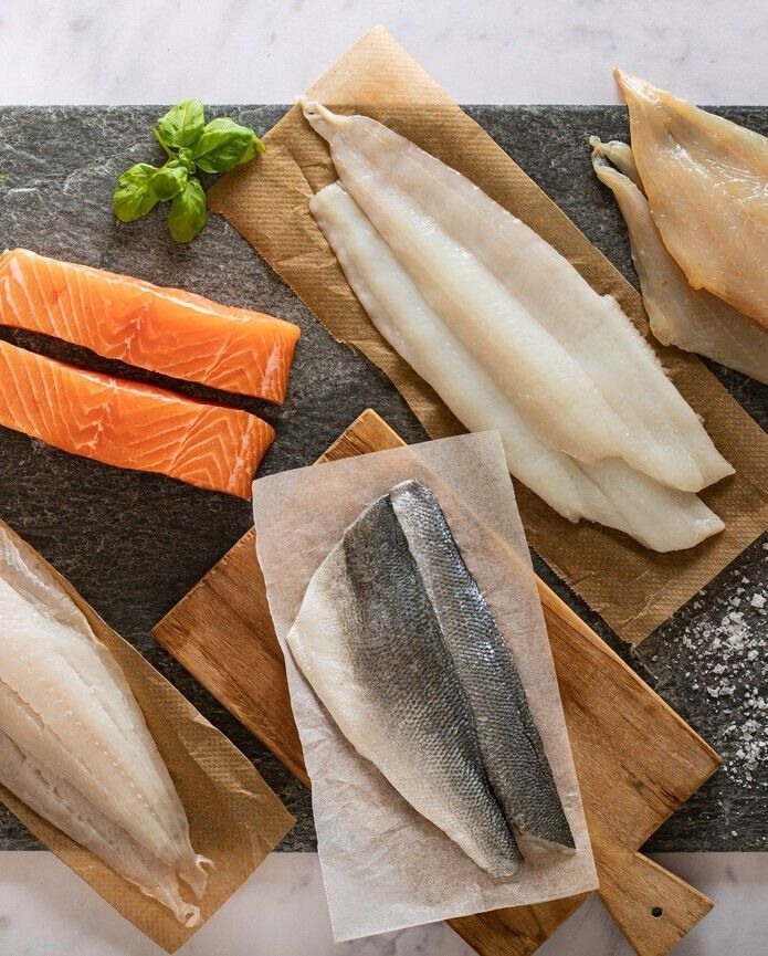 Fresh fish selection